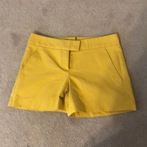 Mustard colored dress shorts